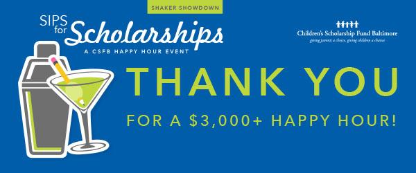 Sips for Scholarships: Shaker Showdown Edition